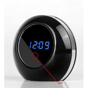 ساعت رومیزی دوربین دار - ساعت رومیزی دوربین دار طرح گرد با سنسور حرکتی